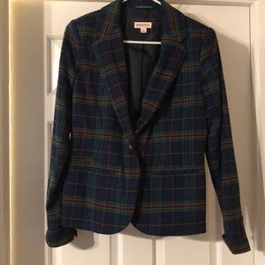 Merona flannel print blazer